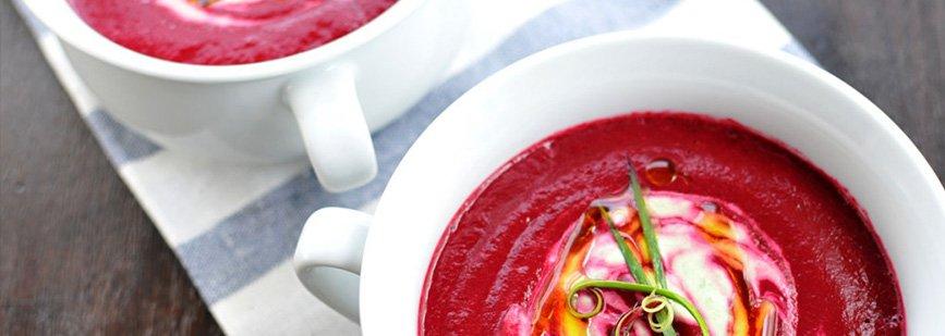 Receta antioxidante: crema fría de remolacha
